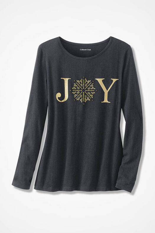 Spread the Joy Holiday Tee, Black, large