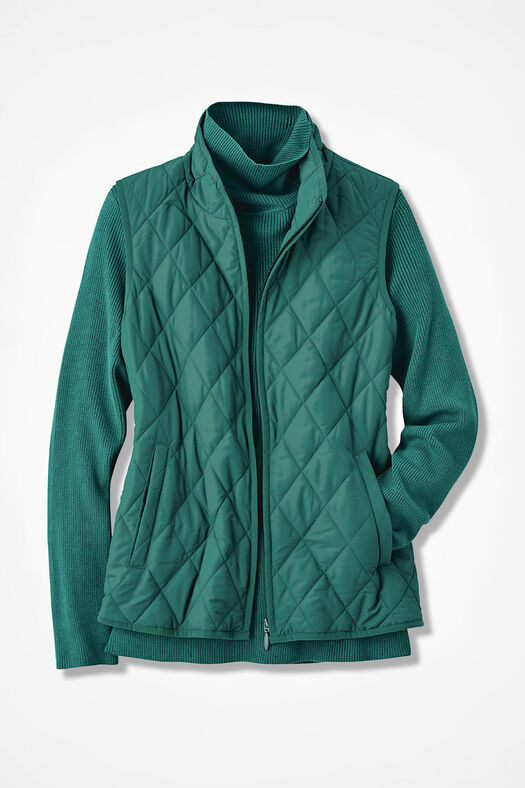 Vest for All Seasons, Emerald, large