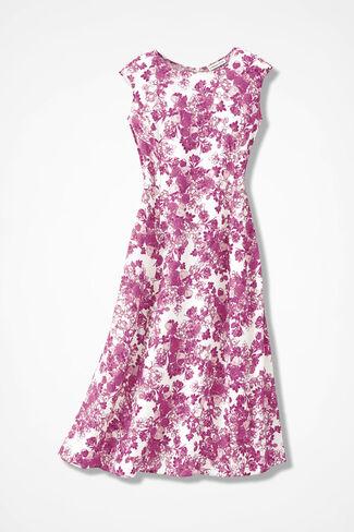 Flower Belle Dress, Pink Floral, large