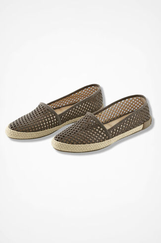 """Milo"" Suede Espadrilles by Adam Tucker®, Olive, large"
