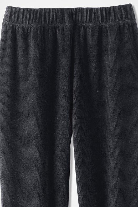 Knit Corduroy Leggings, Black, large