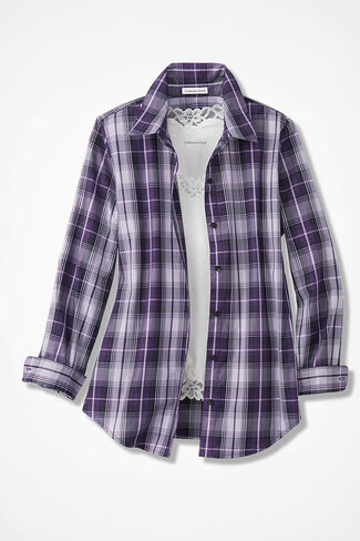 Plum Perfect Easy Care Shirt, Pale Lavender, large