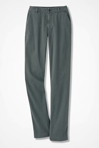 Hidden Stretch-Waist Chinos, Laurel Green, large