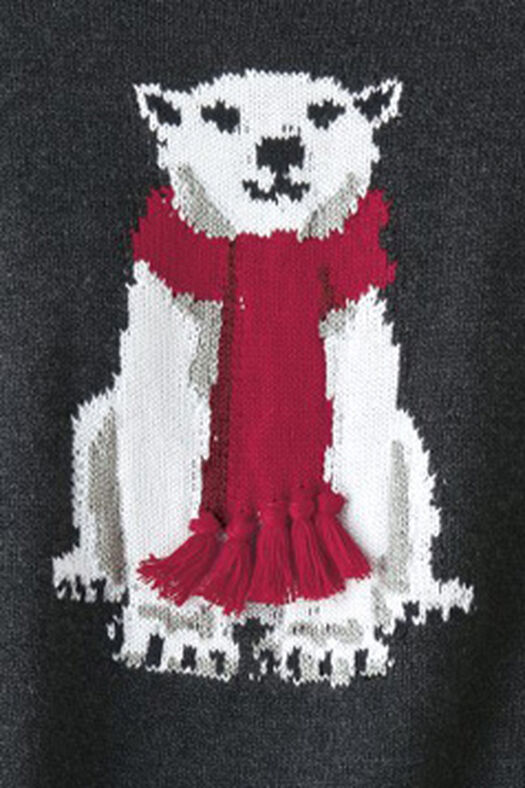 Polar Bear Sweater, Charcoal, large