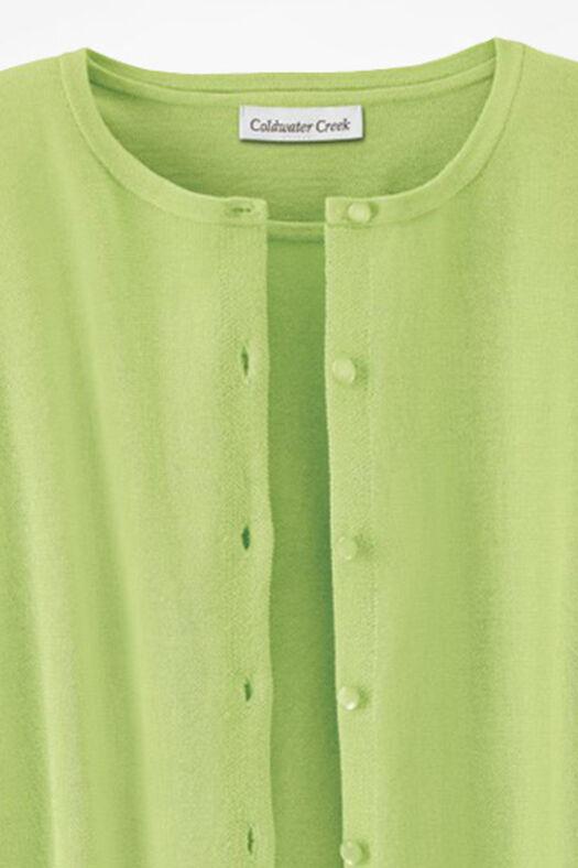 NEW Classic Cardigan, Bright Peridot, large