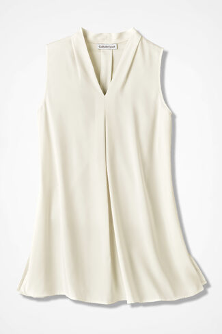 Sunset Sleeveless Tunic, Ivory, large