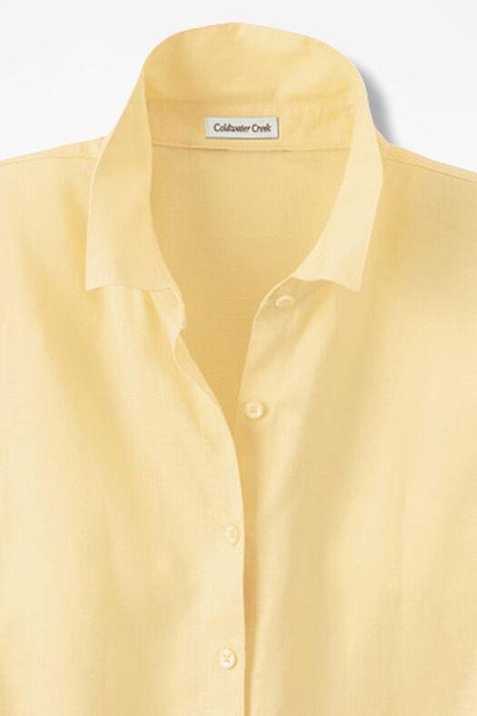 Linen Big Shirt, Sunlight, large