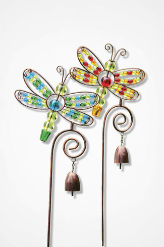 Dragonfly Garden Stakes, Multi, large