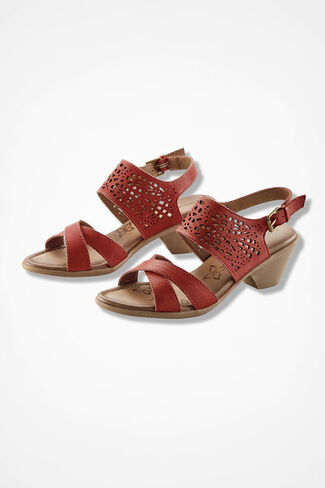 """Faith"" Sandals by Comfortiva®, Persimmon, large"