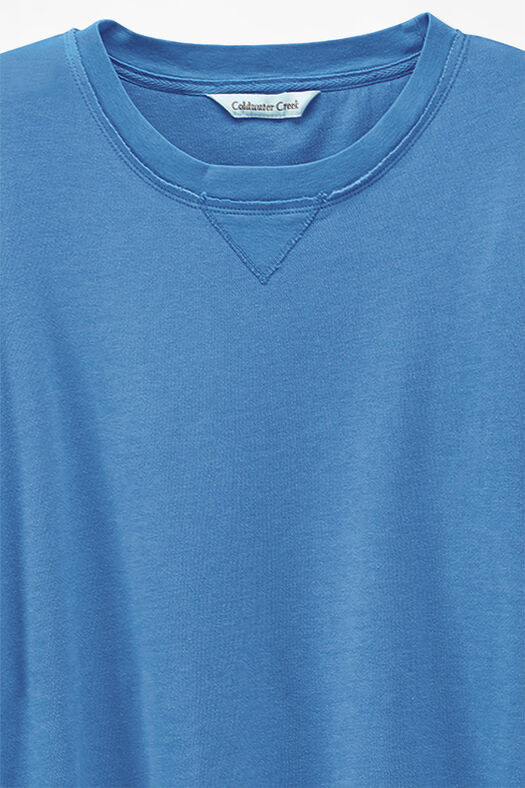 Colorwashed Fleece Pullover, Tahoe Blue, large