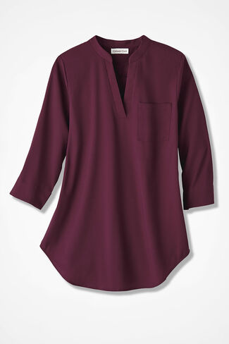 Go With the Flow Tunic, Wine, large