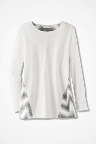 Stripe Surprise Tunic, Ivory, large