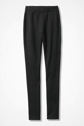 NEW Summer-Weight Ponte Slim-Leg Leggings, Black, large