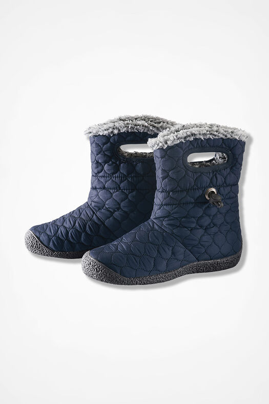 """""""Vista"""" Quilted Fleece Boots by Walk With Me™, Navy, large"""