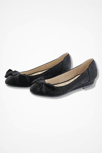 """Martina"" Suede Mini-Wedges by Me Too®, Black, large"