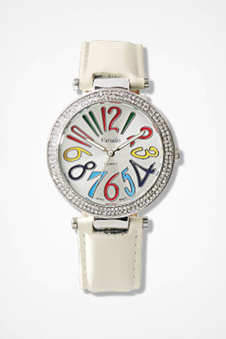 Counting Colors Watch, Ivory, large