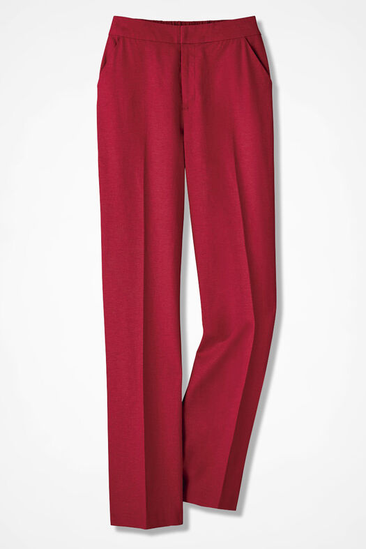 Relaxed Linen Pants, Fresh Red, large
