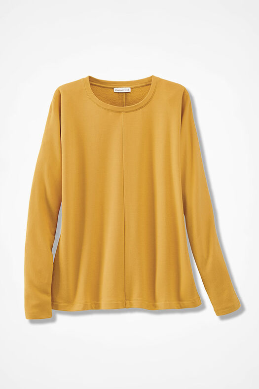 Superbly Soft Fleece Pullover, Saffron, large