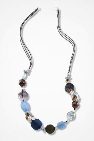 Blue Bottega Necklace, Blue Multi, large