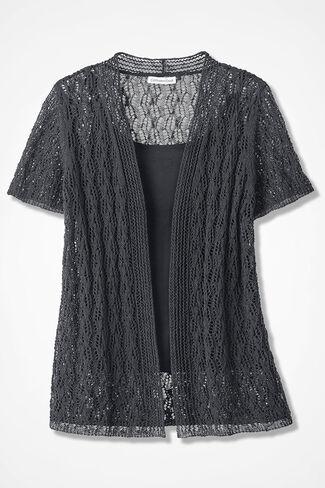 078b69064603 Open Crochet Cardigan - Women s Sweaters