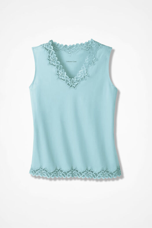 Double Lace Tank, Clearwater, large