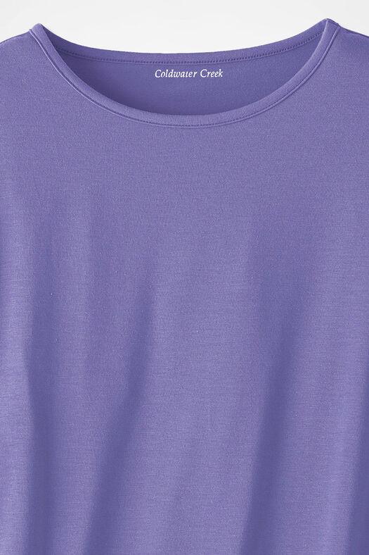PrimaKnit® Crewneck Tee, Dahlia Purple, large