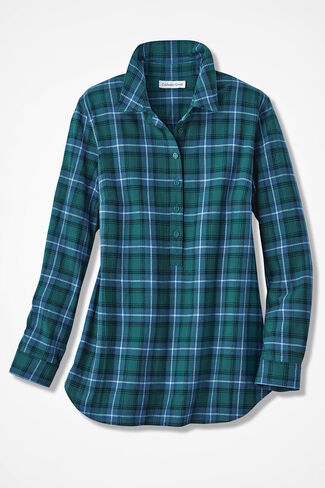 Celebration Plaid Popover, Emerald Multi, large