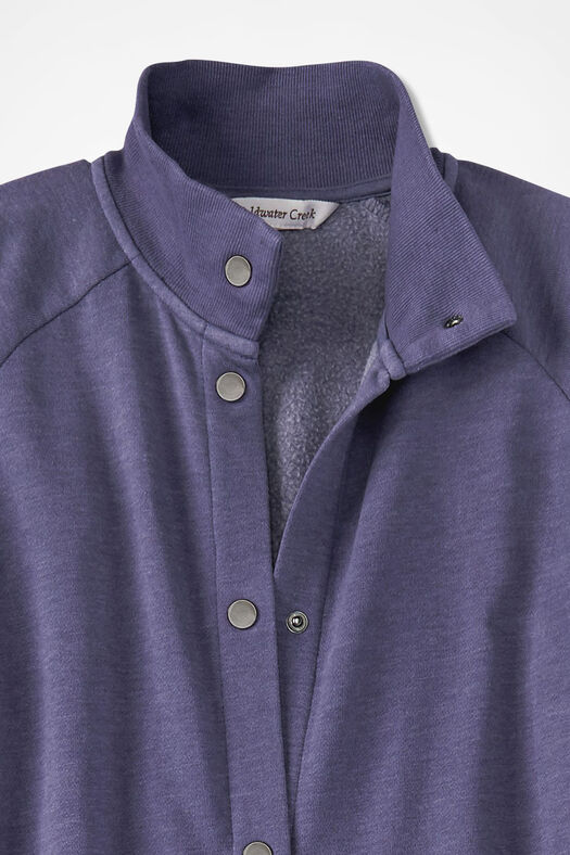 Snap-Front Fleece Lounger, Deep Thistle, large