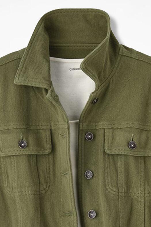 Urban Trails Knit Denim Jacket, Loden, large