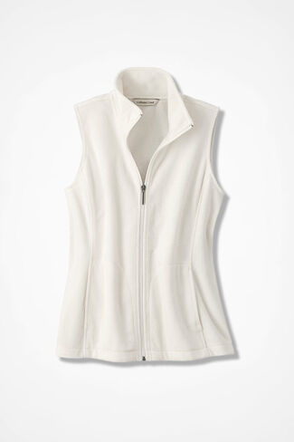 Great Outdoors Fleece Vest, Ivory, large