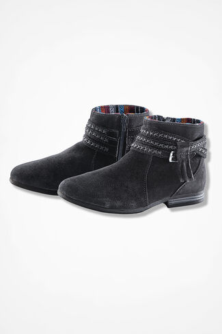 """Dixon"" Suede Boots by Minnetonka®, Black, large"