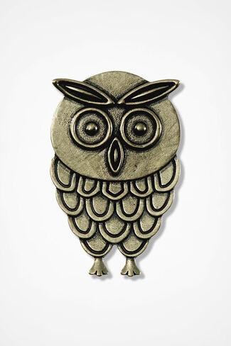 """""""Octavia"""" Owl Pin, Bronze, large"""