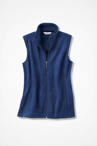 Great Outdoors Fleece Vest, India Ink, large