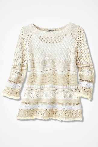 Potpourri of Patterns Sweater, Vanilla, large