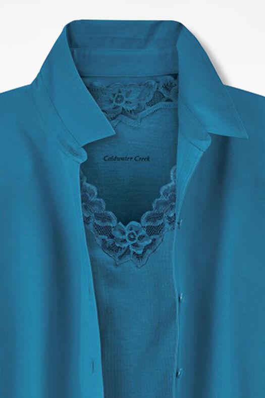 Long-Sleeve Easy Care Shirt, Mallard Blue, large