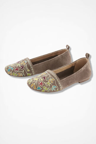 """""""Bliss"""" Suede Flats by Latigo®, Desert Taupe, large"""