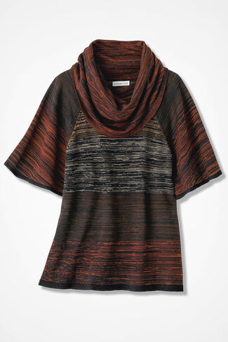 Optic Art Sweater, Rust, large