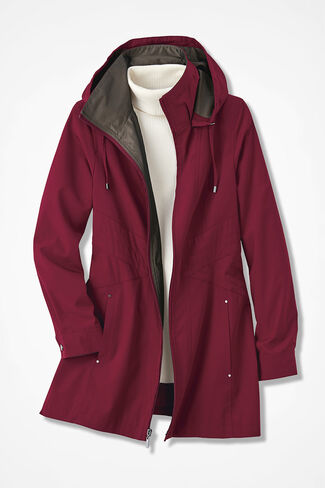 Three-Season Raincoat, Dark Garnet, large