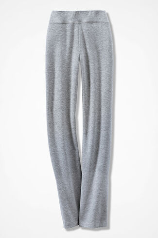 Relaxed French Terry Pants, Heather Grey, large
