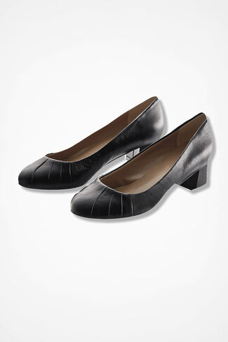 """Uptown"" Leather Pumps by Walk with Me™, Black, large"