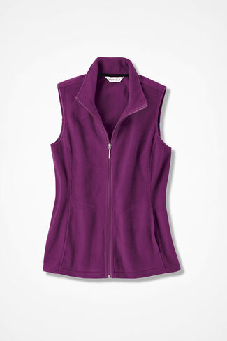 Great Outdoors Fleece Vest, Currant, large