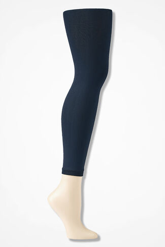 Coldwater Creek® Opaque Footless Tights, Navy, large