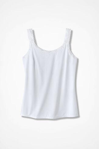 Shelf Bra Camisole, White, large