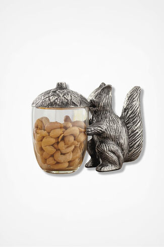 Squirrel Nut Jar, Metal, large