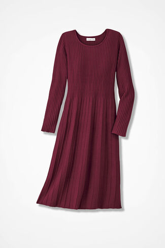 AM/PM Sweater Dress, Garnet, large