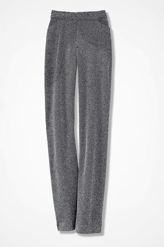The Stretch Tweed Gallery Pant, Black/White, large