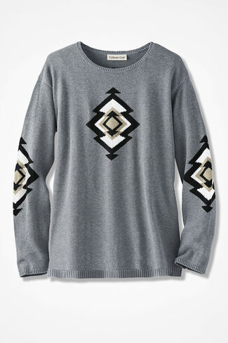 Spirit Valley Sweater, Light Heather Grey, large