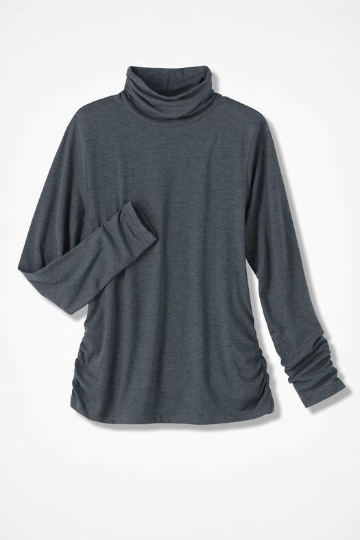 PrimaKnit® Turtleneck, Charcoal, large