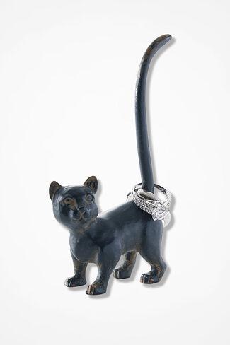 Favorite Feline Ring Holder, Pewter, large