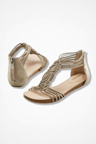"""Nyla"" Sandals from Adam Tucker by Me Too™, Gold, large"